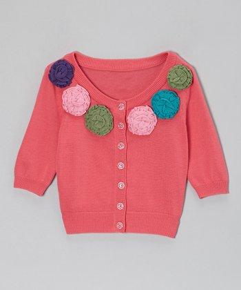 Pink Autumn Cardigan - Girls