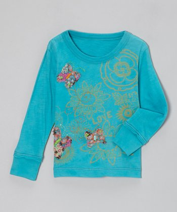 Turquoise Flight of the Butterflies Tee - Infant