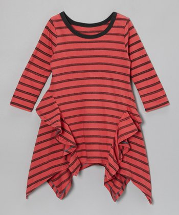 Pink Charlie Stripe Handkerchief Dress - Toddler & Girls