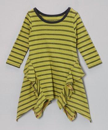 Green Charlie Stripe Handkerchief Dress - Toddler & Girls