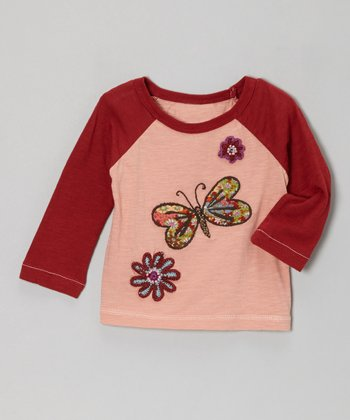 Pink Butterfly Rhapsody Raglan Tee - Infant & Girls