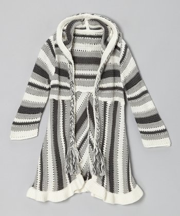 Gray Sheepherders Hooded Cardigan - Toddler & Girls