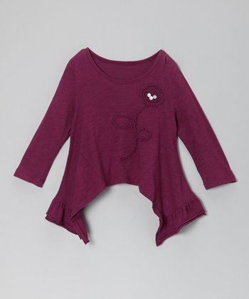 Purple Collete Sidetail Top - Toddler & Girls