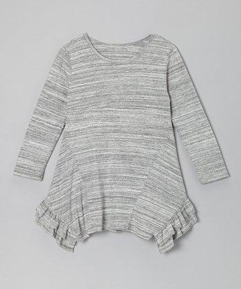 Black Stripe Kai Handkerchief Dress - Toddler & Girls