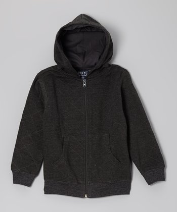 Medium Heather Gray Casual Zip-Up Hoodie - Toddler & Boys