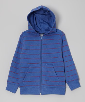 Coastal Blue Stripe Zip-Up Hoodie - Toddler & Boys