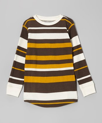 Cinnamon Formal Bold Stripe Thermal Tee - Boys