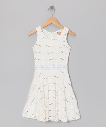 White Zigzag Dress