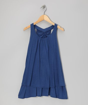 Blue Drape Dress