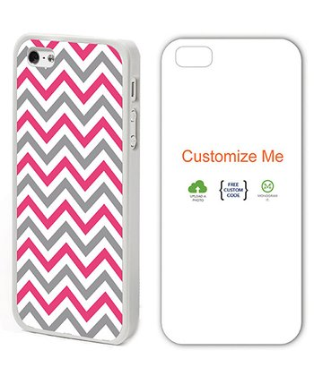 Pink & Gray Zigzag Case for iPhone 4/4S