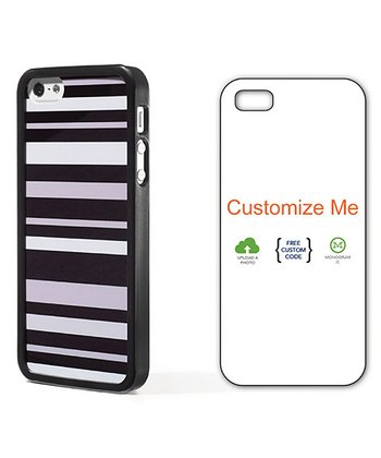 Black & Gray Stripe Case for iPhone 4/4S