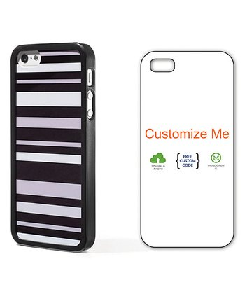 Black & Gray Stripe Case for iPhone 5