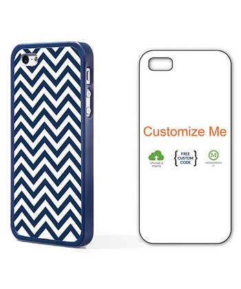 Navy & White Zigzag Case for iPhone 4/4S