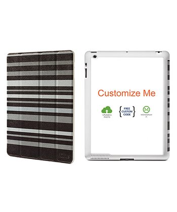 Black & Gray Stripe Cover for iPad