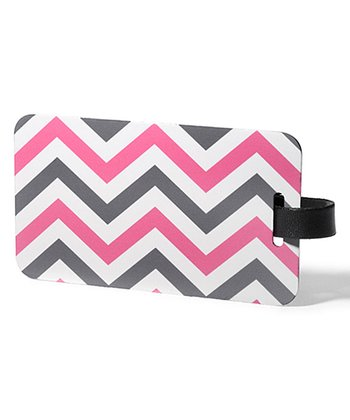 Pink & Purple Zigzag Luggage Tag