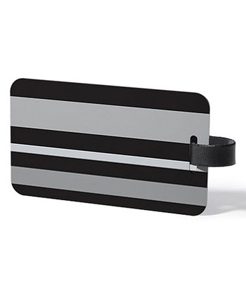 Black & Gray Domain Luggage Tag