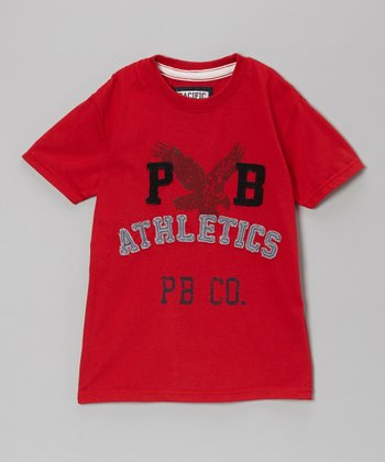 Red 'PB Athletics' Tee