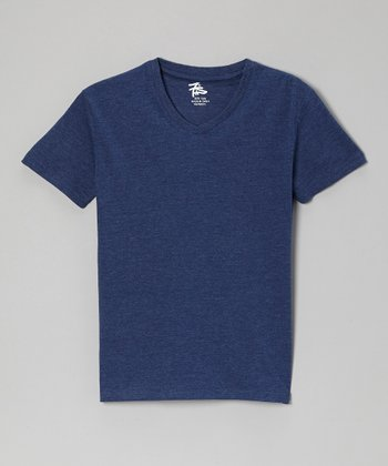 Navy V-Neck Tee - Boys
