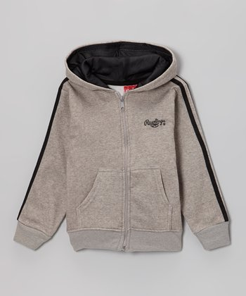 Light Gray Heather Fleece Hoodie - Toddler & Kids