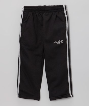 True Black & Iced Gray Track Pants - Toddler & Kids