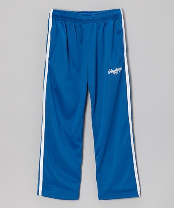 Deep Royal & Pure White Track Pants - Toddler & Kids