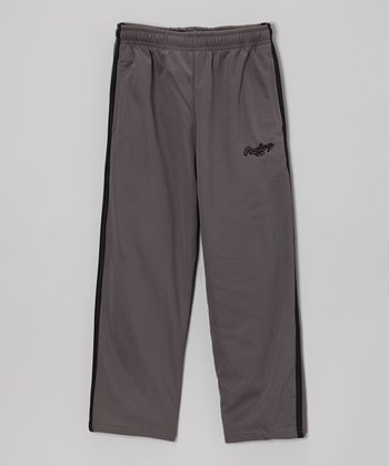 Pavement Gray & True Black Track Pants - Toddler & Kids