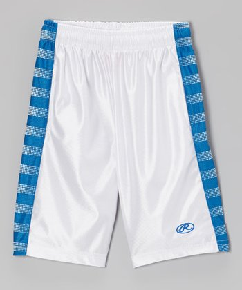 Pure White & Deep Royal Shorts - Toddler & Kids