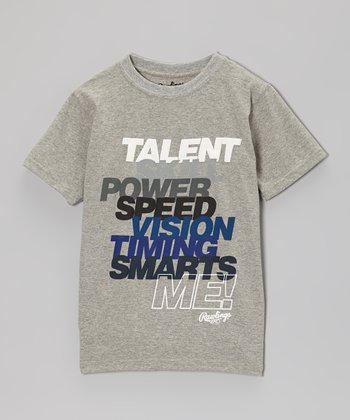 Light Gray Heather 'Talent, Skill, Power… Me!' Tee - Kids