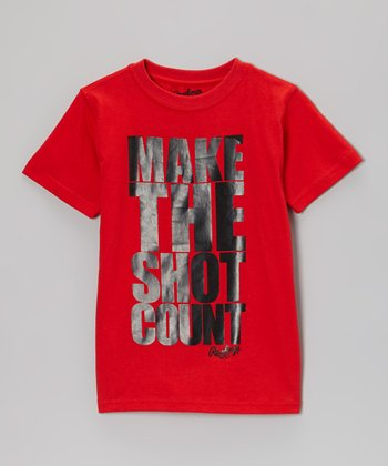 Red Heat 'Make The Shot Count' Tee - Kids
