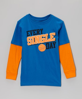 Deep Royal 'Every Single Day' Layered Tee - Kids
