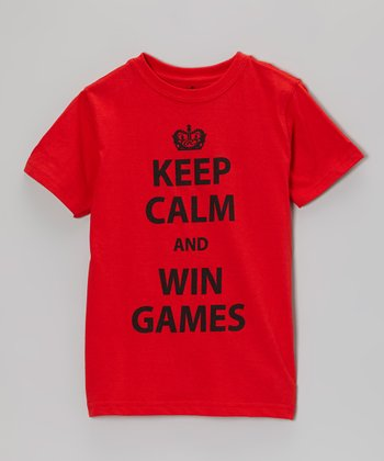 Red Heat 'Keep Calm and Win Games' Tee - Kids