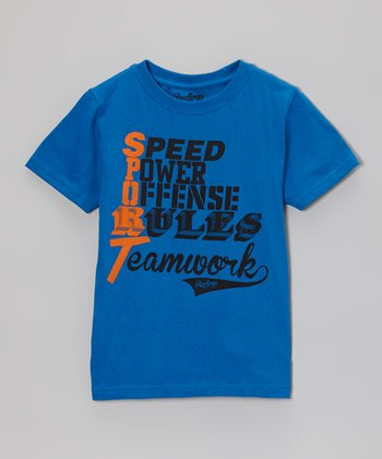 Deep Royal 'Sport' Tee - Kids