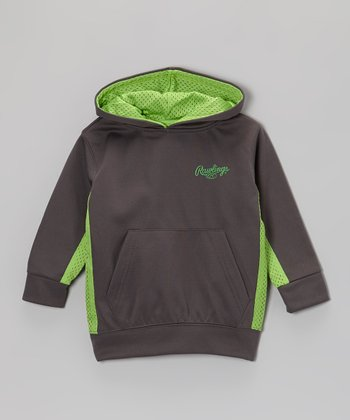 Steel & Acid Green Jersey-Stripe Hoodie - Toddler & Kids