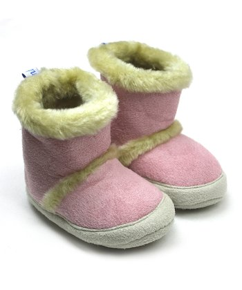 Pink & Cream Faux Fur Boot