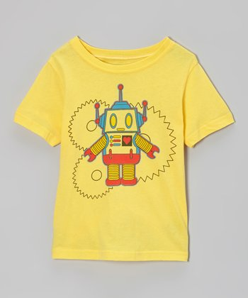 Yellow Robot Gearz Tee - Toddler & Boys