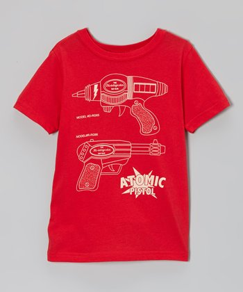 Red 'Atomic Pistol' Tee - Toddler & Boys