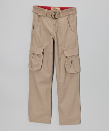 Tan Ripstop Cargo Pants