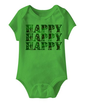 Apple 'Happy Happy Happy' Bodysuit - Infant
