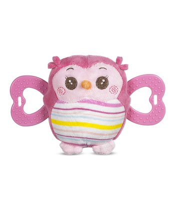 Pink Owl Teether Plush Toy