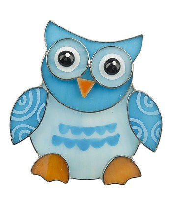 Blue Heart Owl Night-Light
