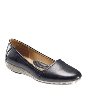 Black Feather Frill Slip-On Shoe