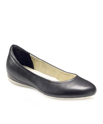 Black Angel Ballerina Flat