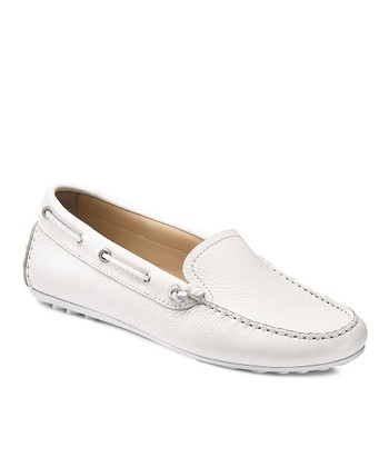 White Cuno Boat Shoe