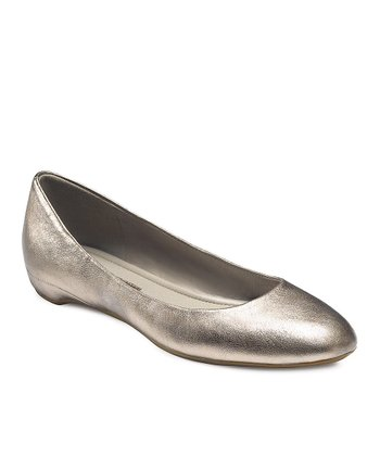 Light Gold Mary Ballerina Flat