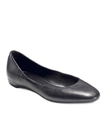 Black Mary Ballerina Flat
