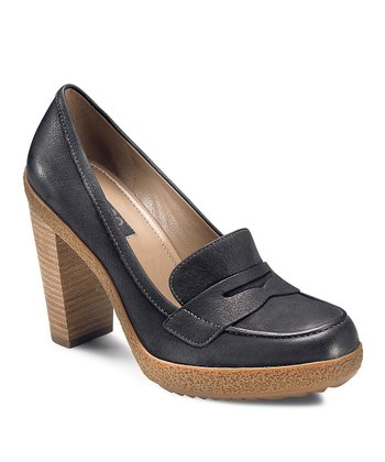Black Nomane Loafer Pump