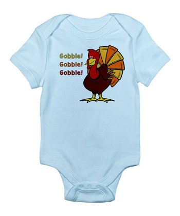 Blue 'Gobble Gobble' Bodysuit - Infant