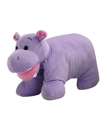 Purple Hippo Hugga Pet Plush Pillow