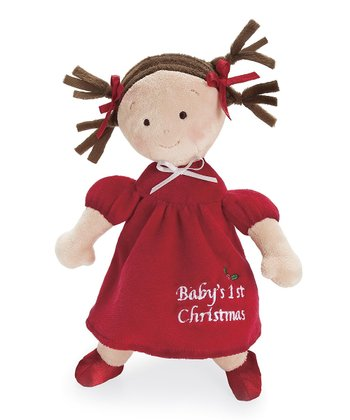 Brown-Haired Little Princess™ Christmas Doll