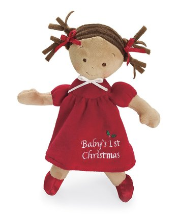 Dark-Haired Little Princess™ Christmas Doll